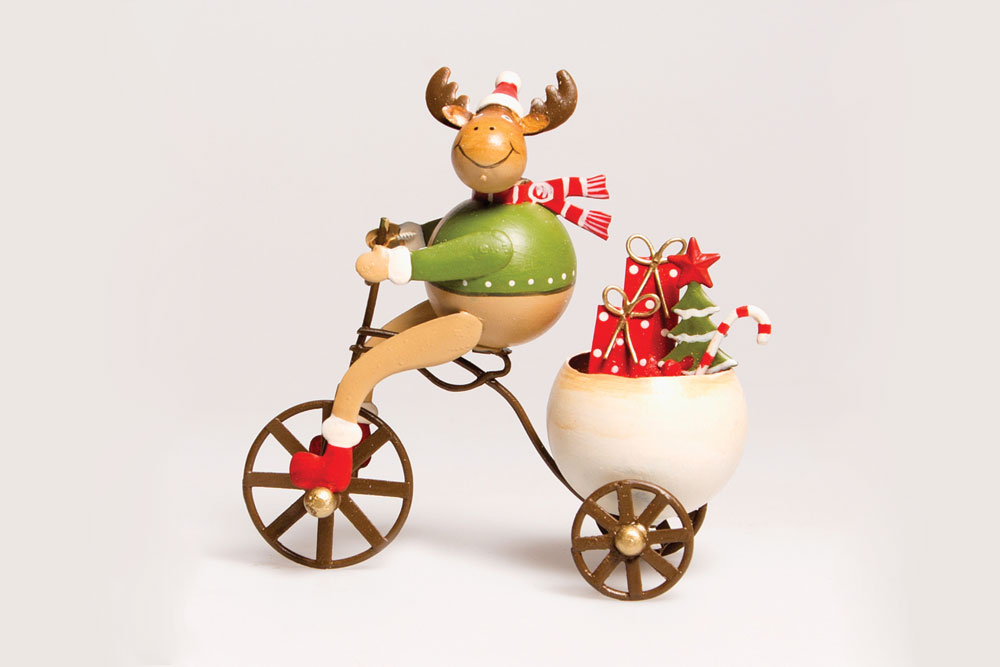 Christmas Bicycle Decoration – Reindeer on a Bicycle