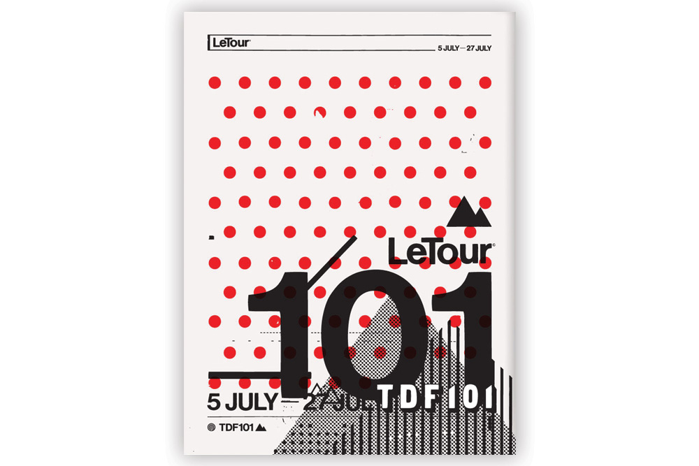 LeTra Tour 101 Cycling Print by Anthony Oram