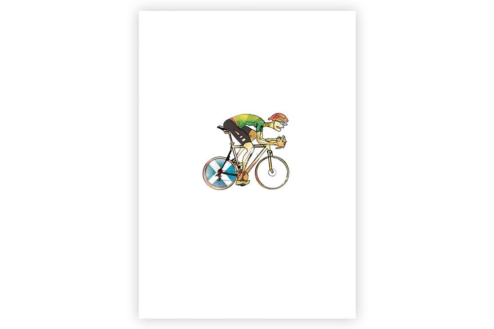 Lone Racer 032 Cycling Print – Simon Spilsbury