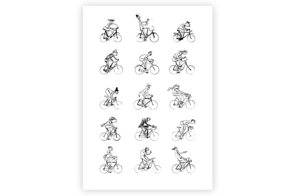 Man and Bike Cycling Print – Simon Spilsbury