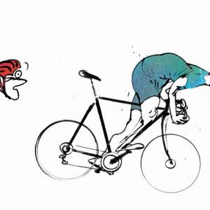 Midlife Cyclists Cycling Print – Simon Spilsbury