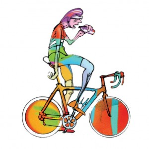 Roadies 01 Cycling Print – Simon Spilsbury