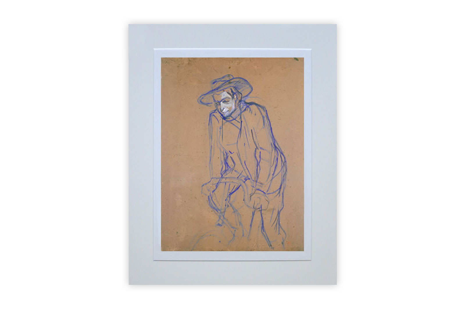 Aristide Bruant Riding a Bicycle by Henri de Toulouse-Lautrec – Giclee Print