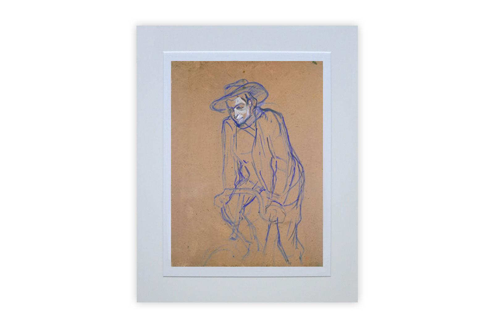 Aristide Bruant Riding a Bicycle by Henri de Toulouse-Lautrec – Giclee Print