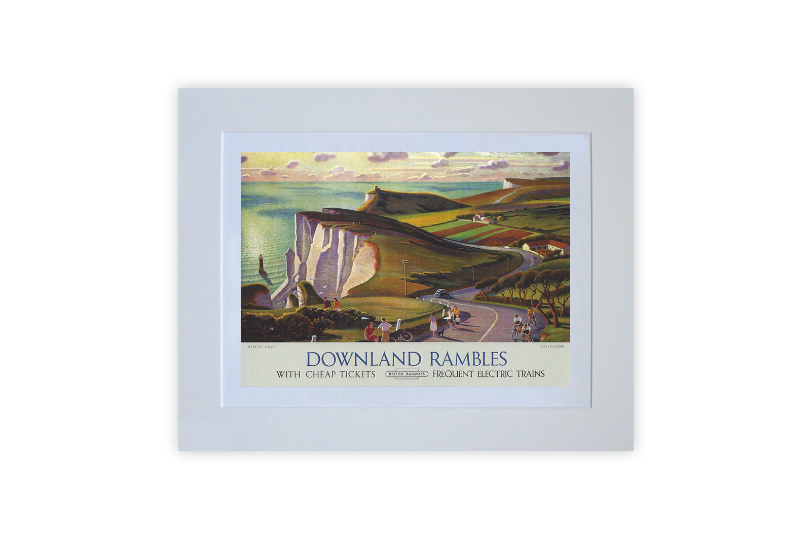 Downland Rambles Mounted Giclee Print