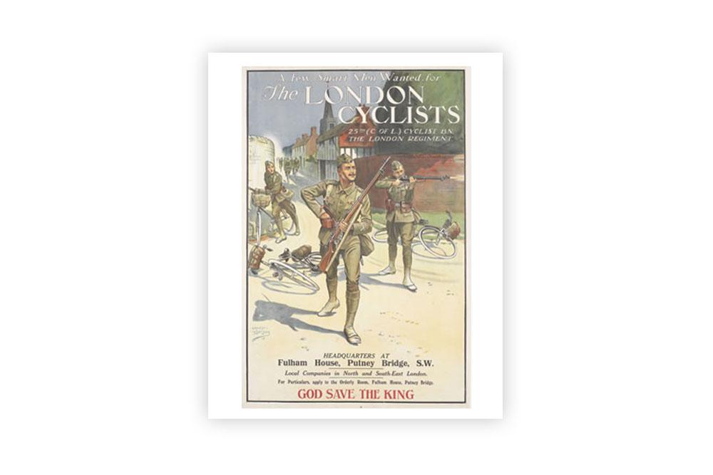 The London Cyclists Vintage Cycling Print