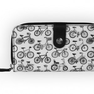 Nicky James Large Zip Around Bicycle Purse