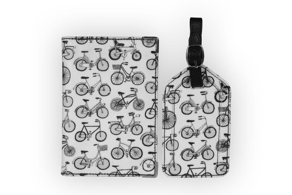 Nicky James Bicycle Passport Cover & Luggage Tag Set