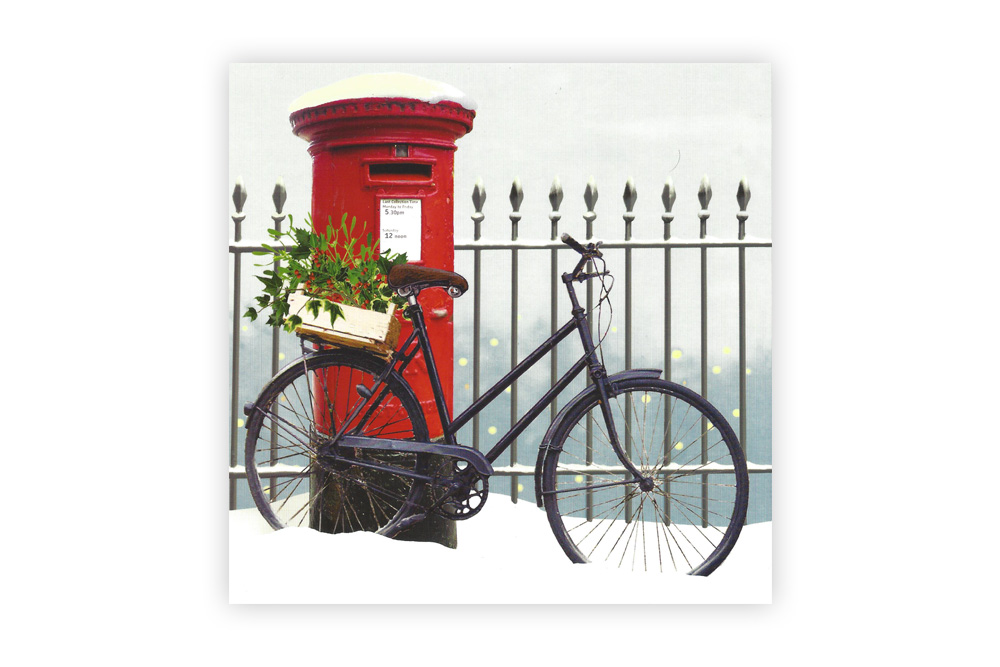 Bike n Box Bicycle Christmas Card