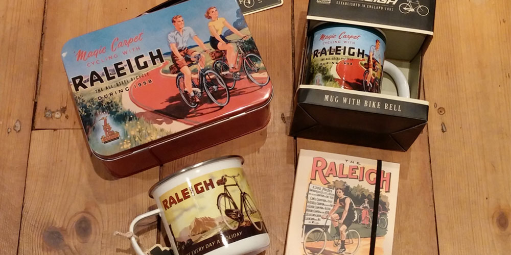 Vintage Raleigh Gifts for Cyclists by Paladone