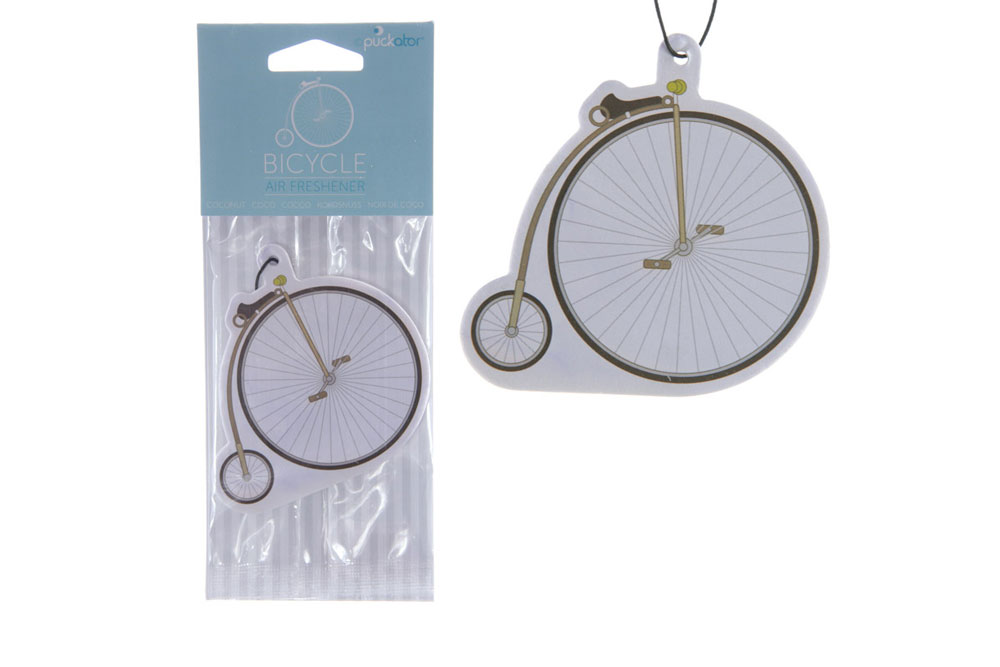 Coconut Penny Farthing Bicycle Air Freshener