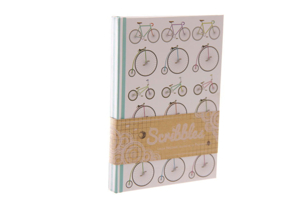 Retro Rides A5 Hardback Bicycle Notebook