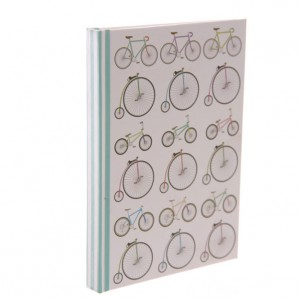 Retro Rides A5 Hardback Bicycle Notebook