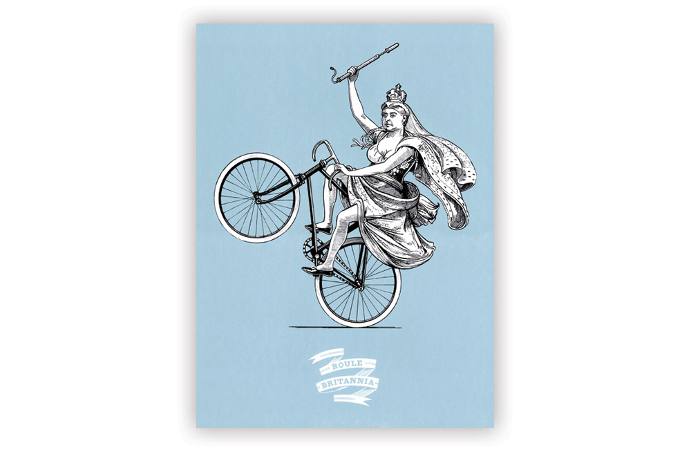 Blue Roule Britannia Screen Print by Otto von Beach