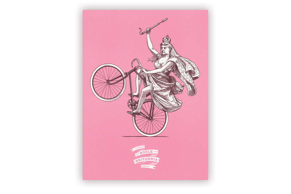 Pink Roule Britannia Screenprint by Otto von Beach