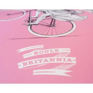 Pink Roule Britannia Screenprint by Otto von Beach