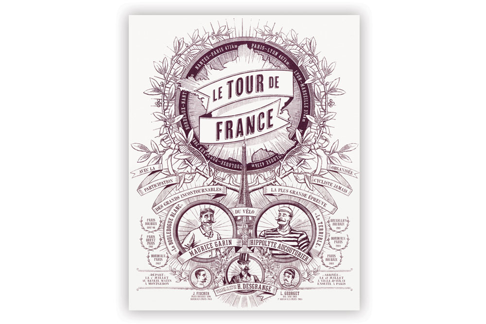 Tour de France Screen Print by Otto von Beach