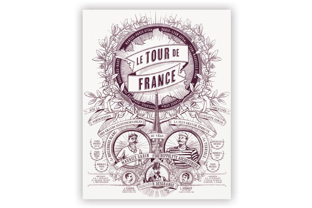 Tour de France Screen Print by Otto von Beach