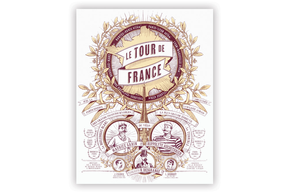 Tour de France 2 Colour Screen Print by Otto von Beach