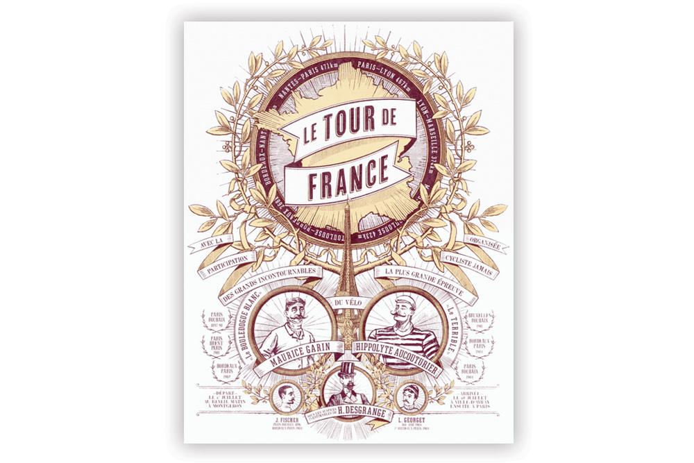 Tour de France 2 Colour Screen Print by Otto von Beach