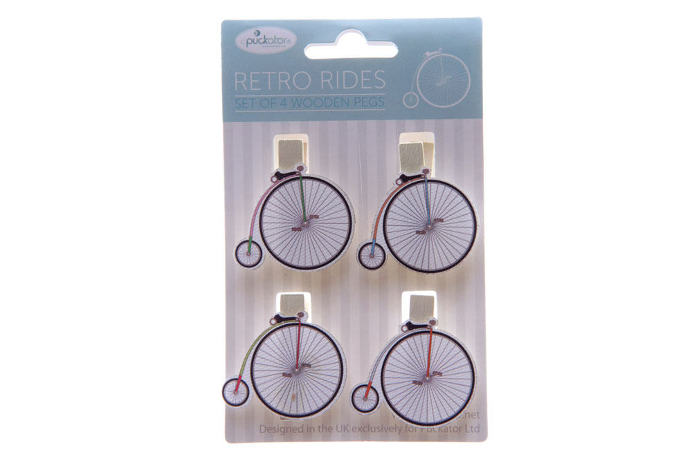 Penny Farthing Bicycle Pegs – Pack of 4