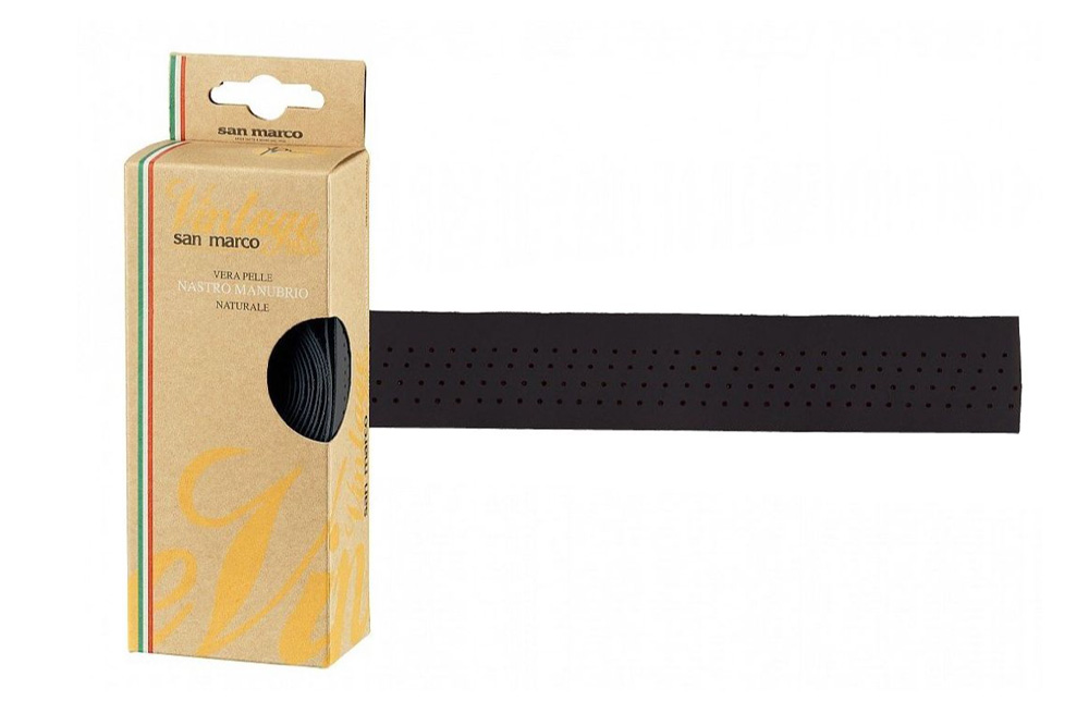 Selle San Marco Vintage Leather Handlebar Tape – Black