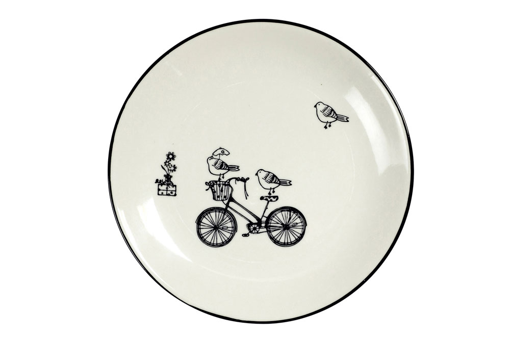 Birds on a Bicycle Plate