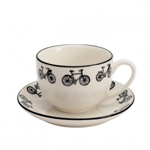 Bicycle Cup and Saucer