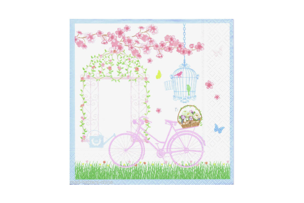 Springtime Bicycle Napkins