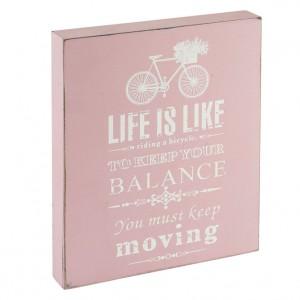 Pink Bicycle Art Block Sign