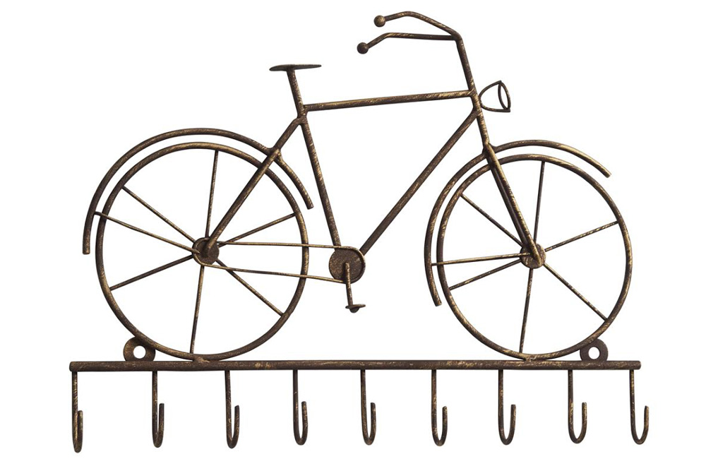 Vintage Bicycle Key Rack