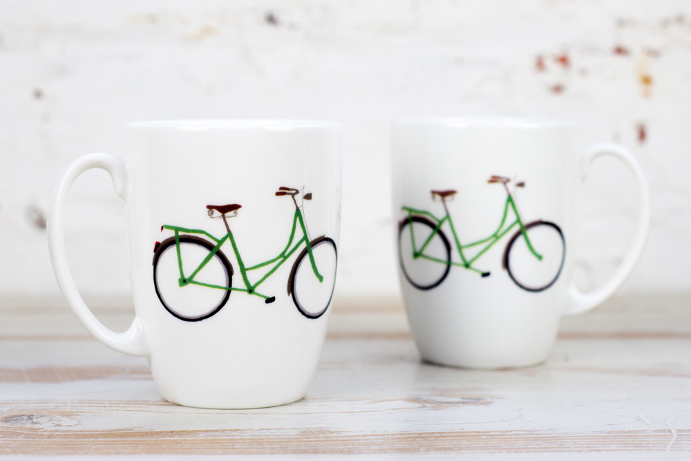 Yellowstone Green Bicycle Mug
