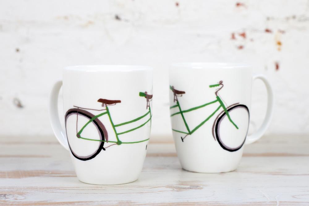 Yellowstone Tandem Bicycle Mug