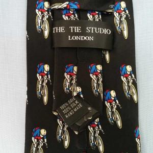 Black Silk Racing Bicycle Tie