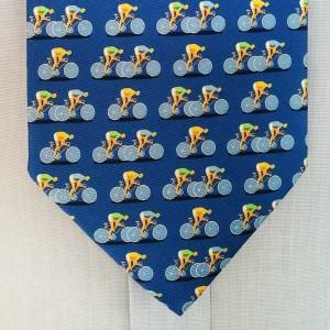 Blue Silk Racing Bicycle Tie