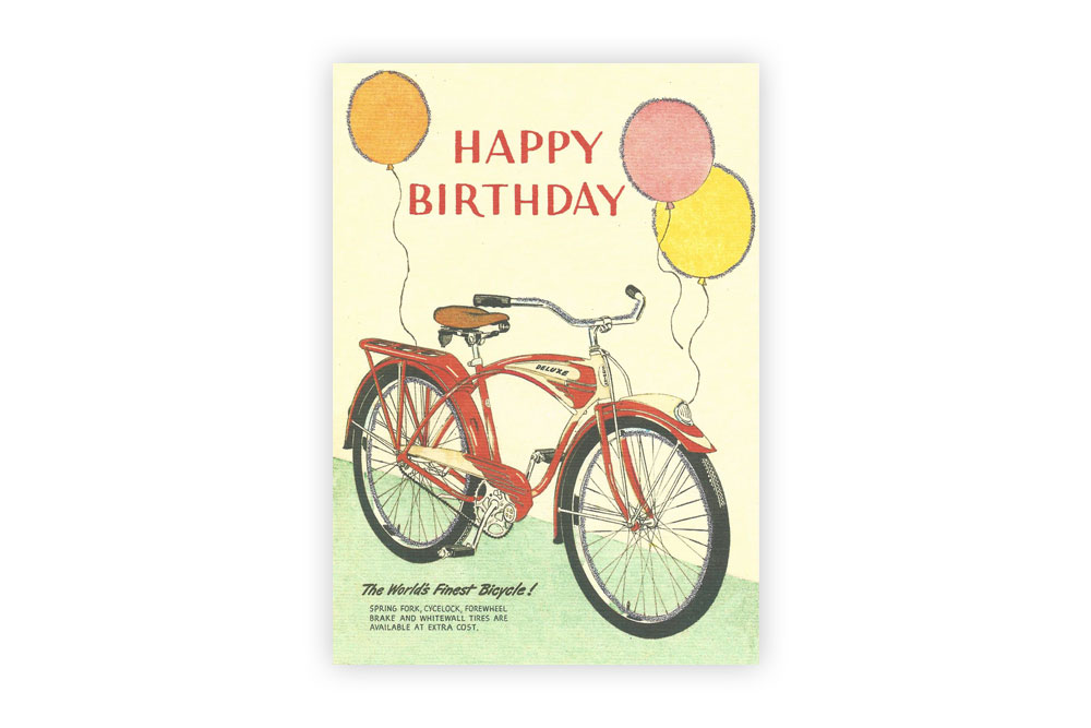 World's Finest Bicycle Birthday Card