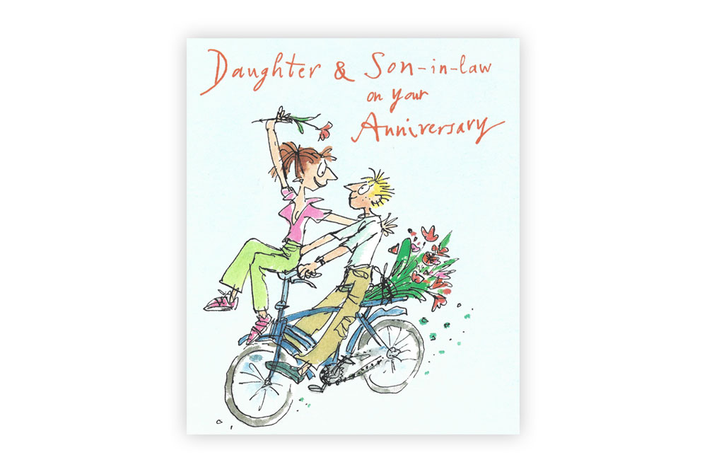 Daughter & Son-in-Law Bicycle Anniversary Card