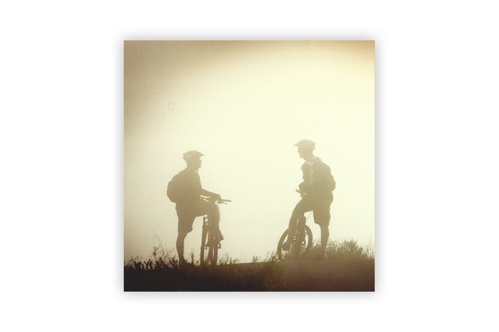 Morning Mist Bicycle Greeting Card