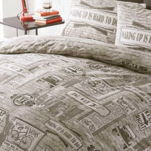 Highway Bicycle King Size Duvet Set