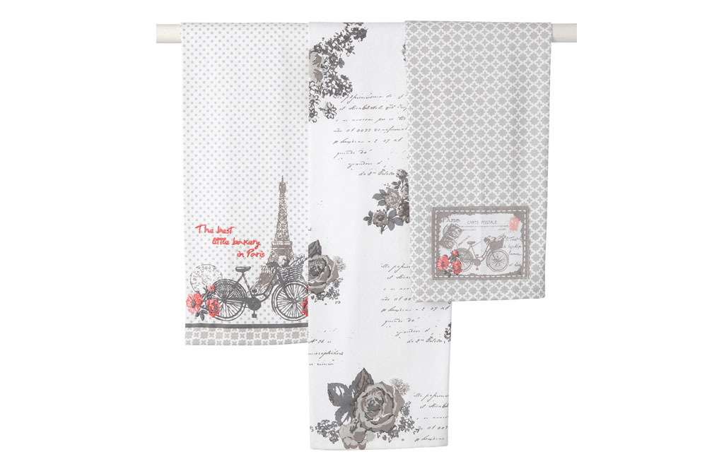 Bicycle Tea Towel Pack of 3