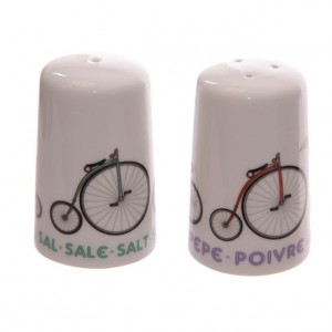 Bicycle Salt and Pepper Shakers