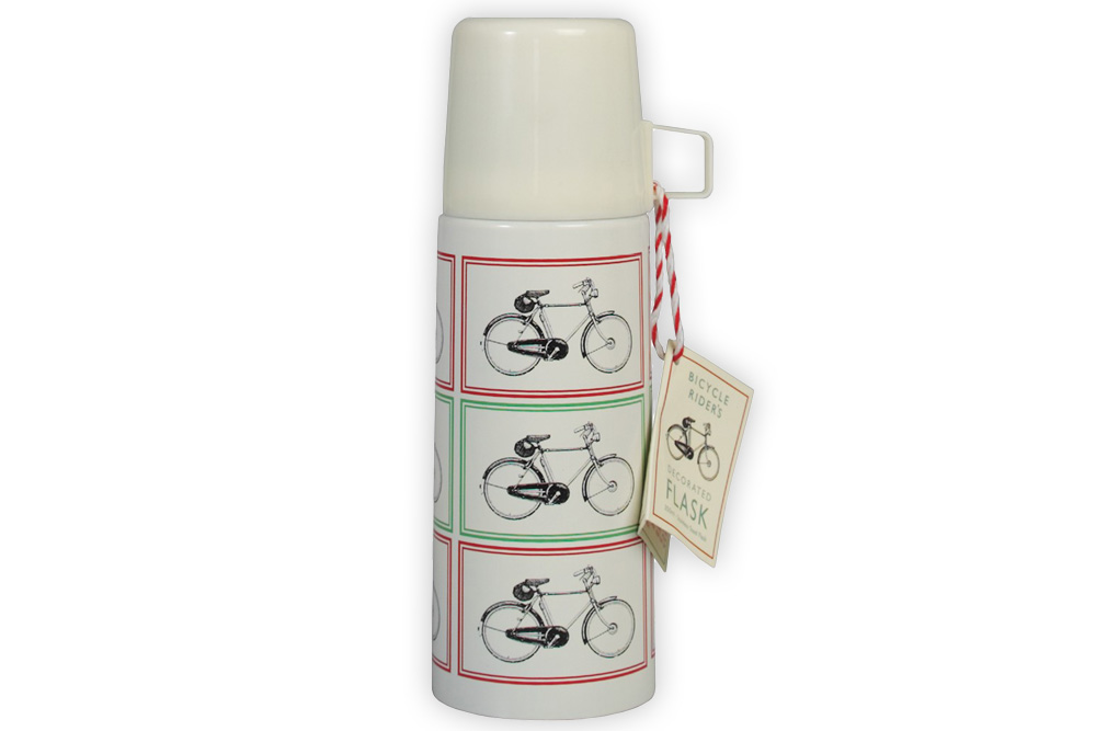 Bicycle Riders Flask and Cup