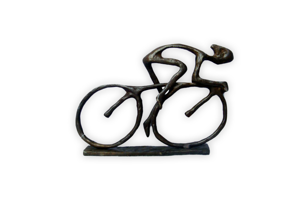 Racing Cyclist Bicycle Sculpture