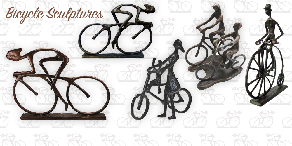 Metal Bicycle Sculptures