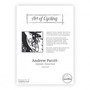 Alpine Descent Bicycle Greeting Card by Andrew Pavitt