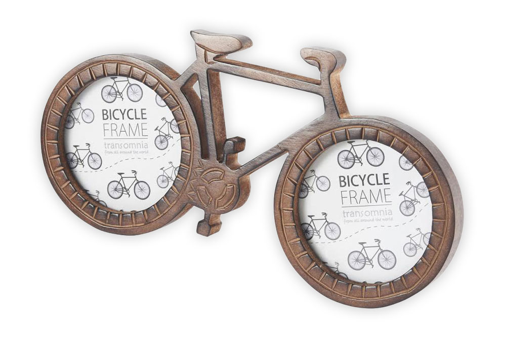 Wooden Bicycle Photo Frame