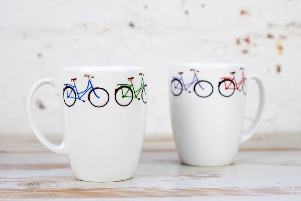 Yellowstone Four Coloured Bicycle Mug