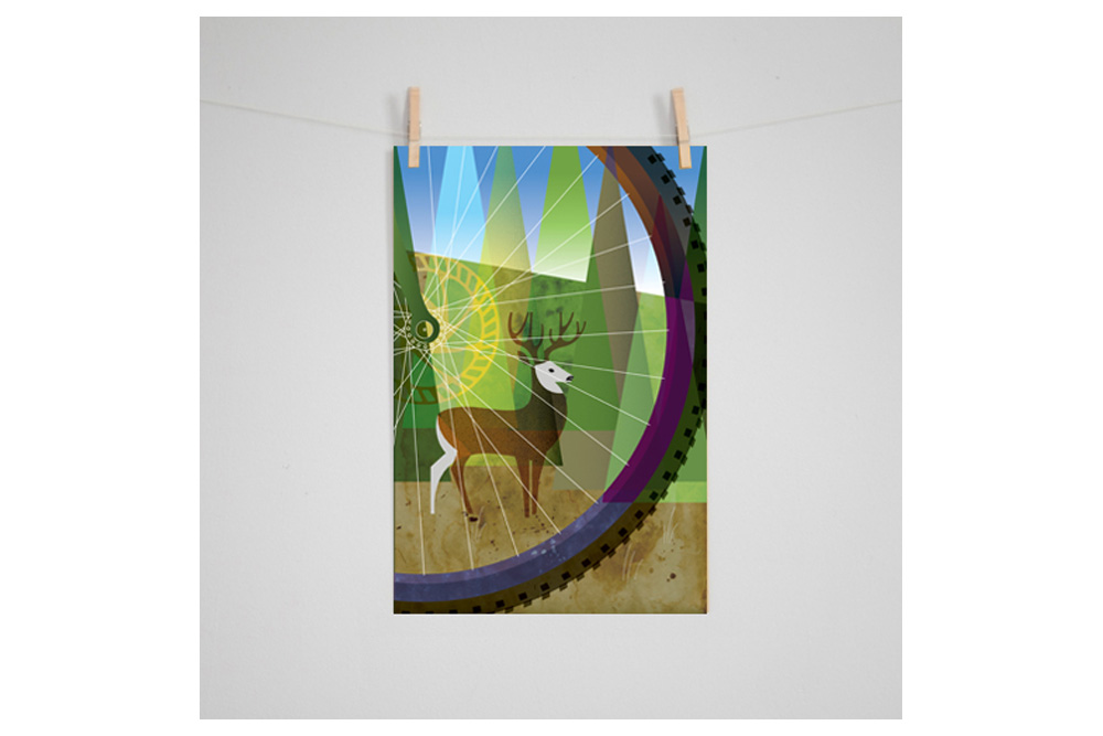 Oregon Outback: Forest Cycling Print by Eleanor Grosch