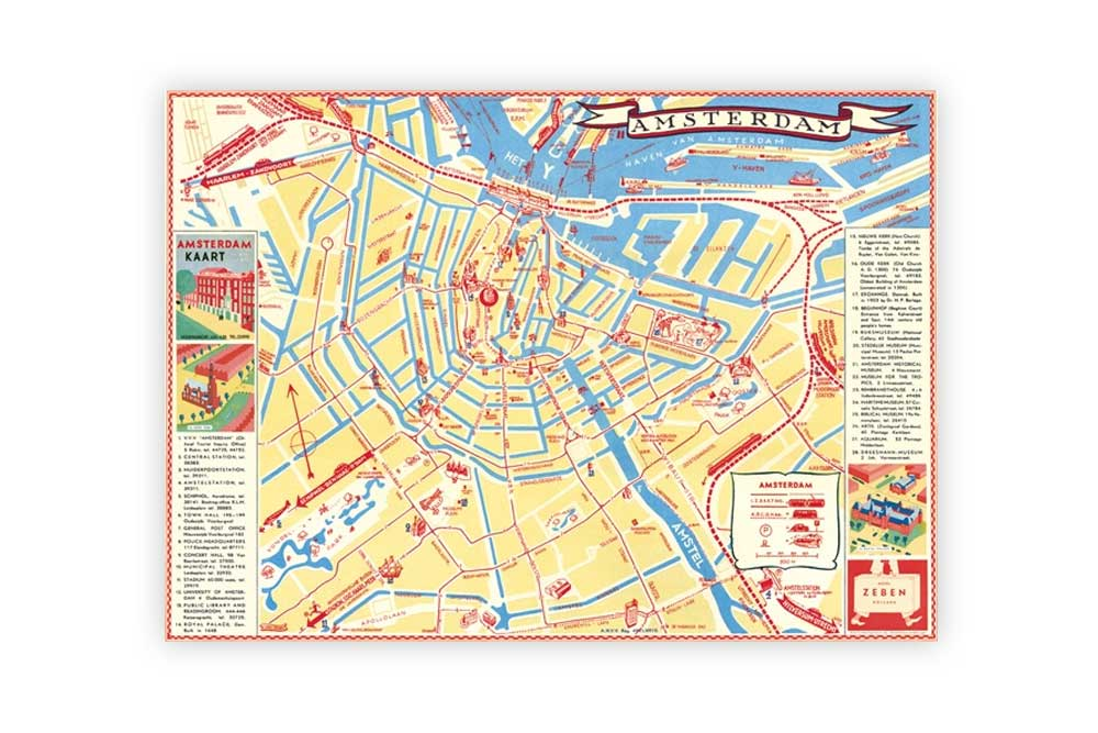 Map of Amsterdam Poster Paper