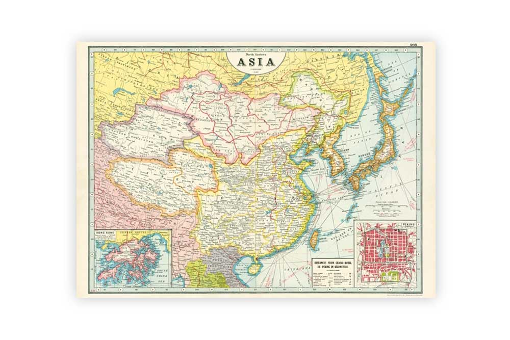 Map of Asia Poster Paper